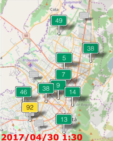 Dangerous Air Pollution In Bogota Colombia - Where is bogota