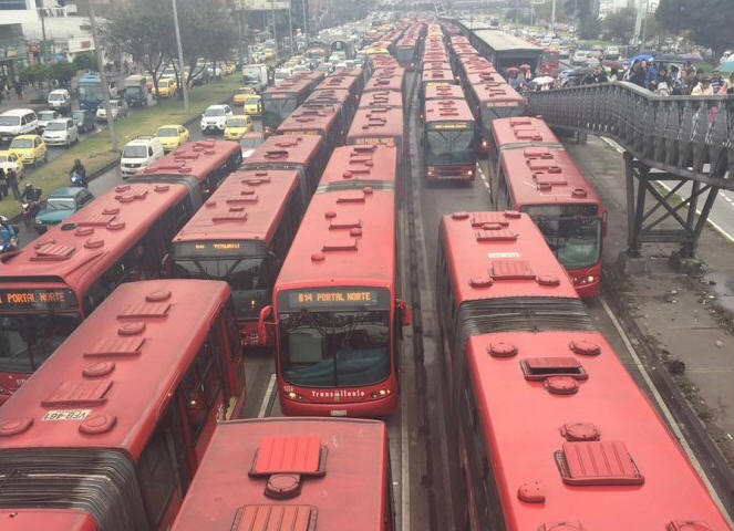 Transmilenio in Bogota. Source of carcinogenics